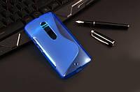 Силиконовый чехол Duotone для Motorola MOTO X Style(XT1570)синий