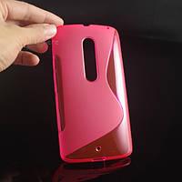 Силиконовый чехол Duotone для Motorola MOTO X Style(XT1570)розовый