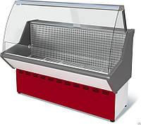 Витрина холодильная низкотемпературная ВХН-1,2 Нова (с гнутым стеклом,нержавейка)