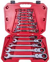 Набор ключей комбинированных, трещоточных с карданом Alloid 13 предметов (НК-8701-13)