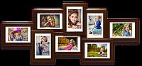 Деревянная мультирамка-коллаж Виолетта коричневая