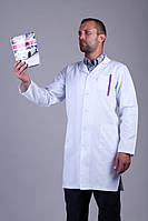 Мужской медицинский халат коттон