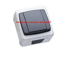 Переключатель проходной MAKEL IP55 Plus серый (Турция)