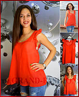 "Блузка летняя ""Krepp"" цвет красный"