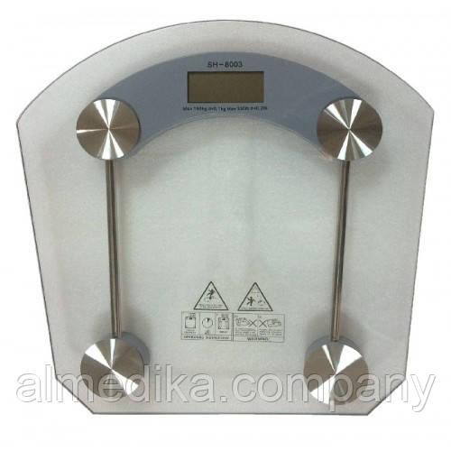 Весы электронные напольные SH-8003 (стекло)