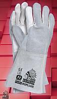 Защитные перчатки RSPLLUX. Перчатки для сварщиков спилковые, фото 1