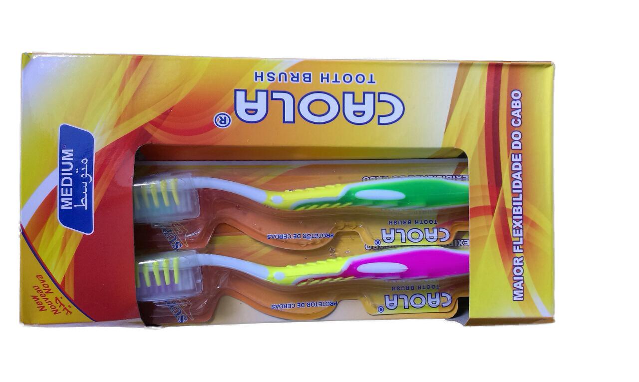 Зубная щетка  CAOLA с силиконовым ворсом для чистки языка и футляром головки  №808-B