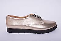Туфли из натуральной золотой кожи №303-5, фото 1