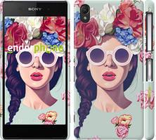 """Чехол на Sony Xperia M4 Aqua Девушка с цветами """"2812c-162"""""""