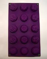 Форма силиконовая  Цветочное ассорти планшет