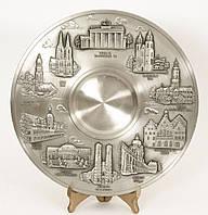 Тарелка настенная, оловянная, олово, Германия 26 см