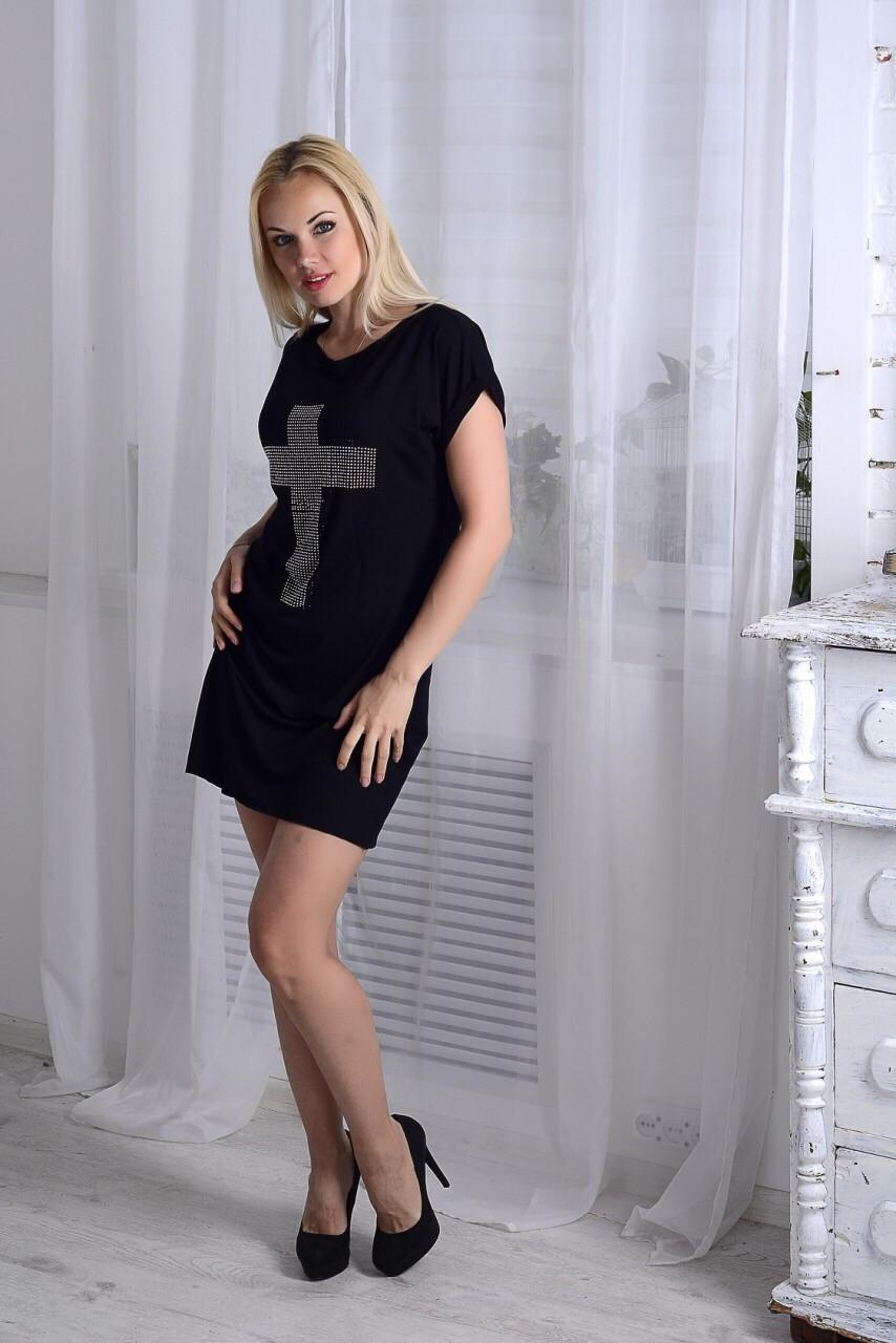4e2b55a6a17 Платье с крестом - черное
