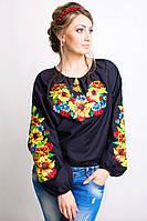 Женская вышиванка Подсолнух, фото 1