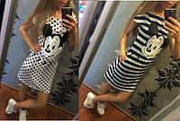 Короткое трикотажное платье, фото 1