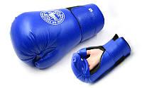 Перчатки для таеквондо PU ELAST MA-4767-B ITF (р-р M-XL, синий)