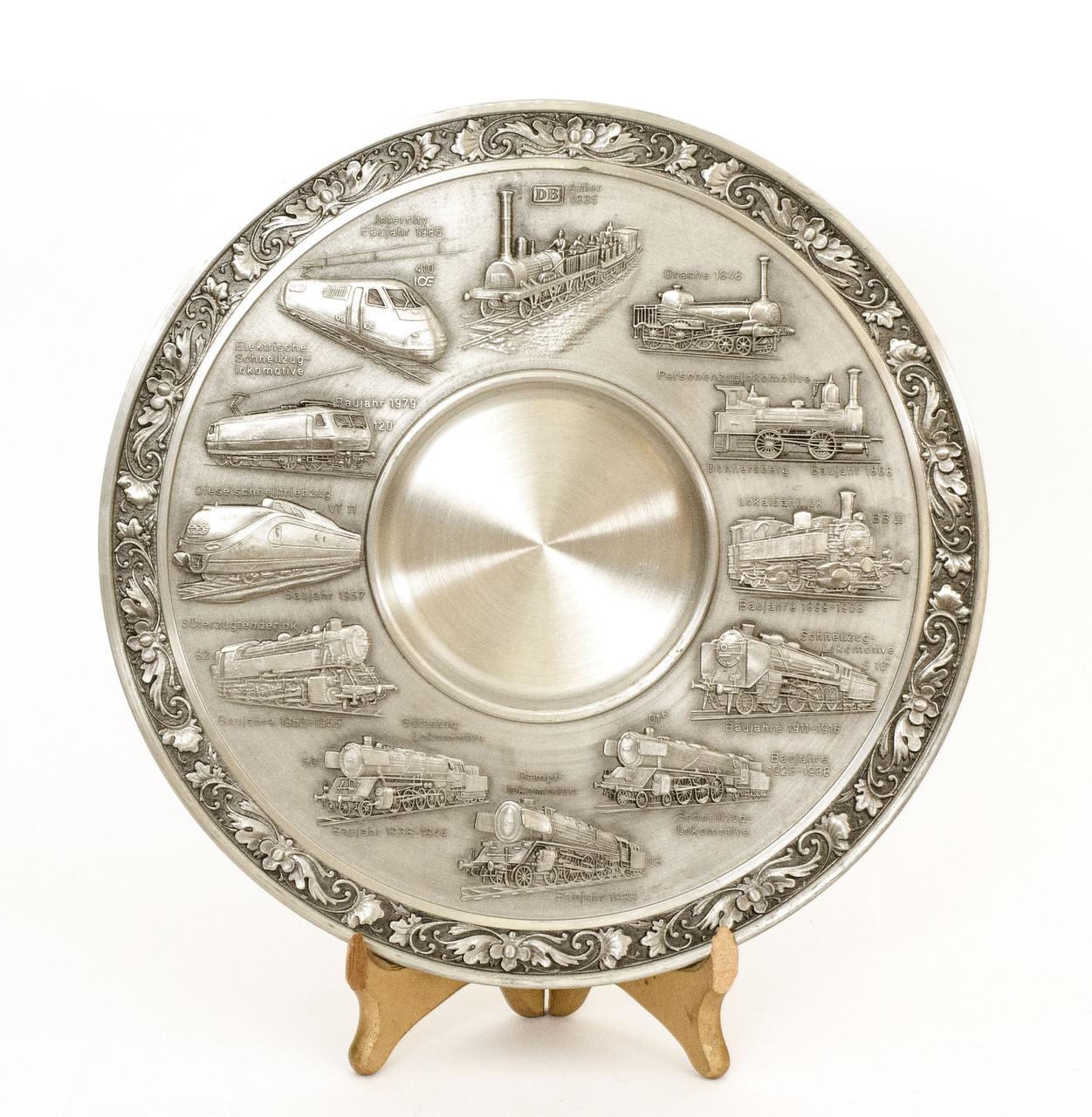 Тарелка оловянная, олово, Германия, история паровозостроения