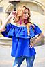 Женская блуза с оборкой на резинке