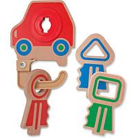 Деревянная игрушка Melissa & Doug Детские ключики (MD4022), фото 1