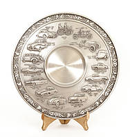 Тарелка оловянная, олово, Германия, история автопрома, фото 1