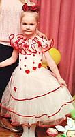 Прокат белого платья с красным кантом на праздник или утренник в Харькове