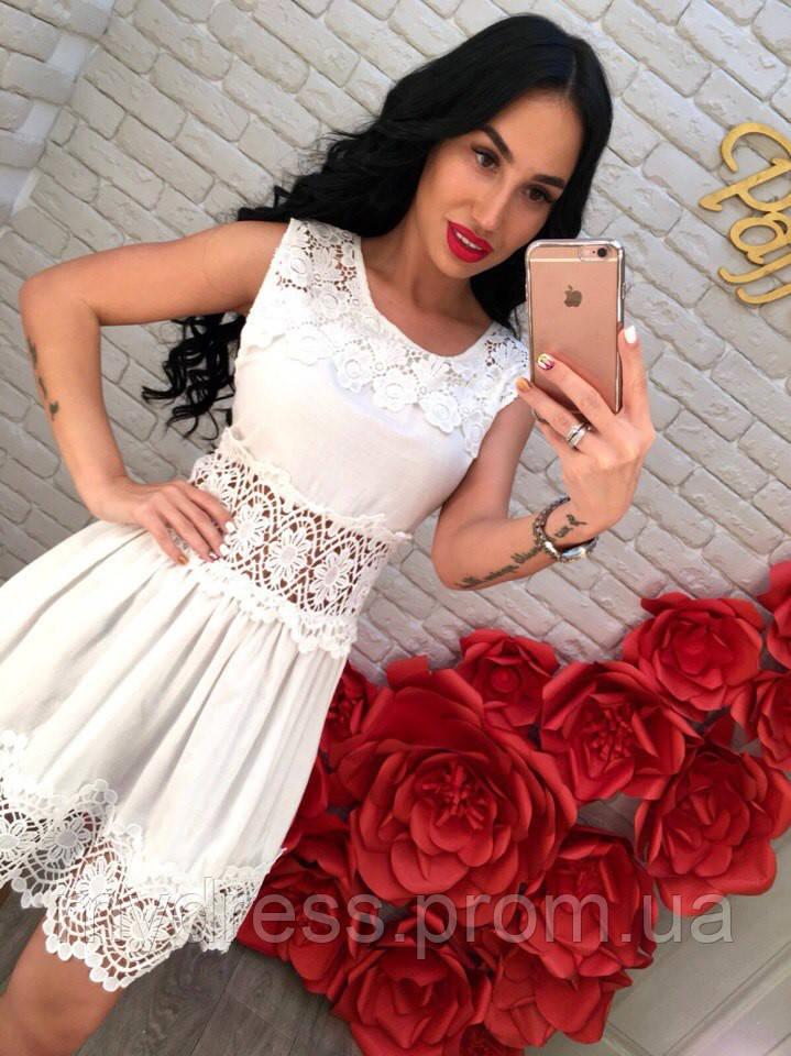 3f6fa0368142983 Белое летнее платье с кружевом - MY DRESS SHOP стильная одежда от лучших  производителей в Харькове