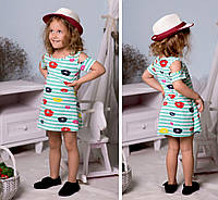 Детское платье морячка из вискозы