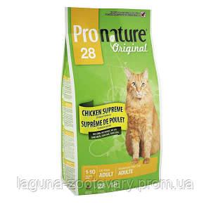 Pronature Original (Пронатюр Ориджинал) КУРИЦА СУПРИМ с курицей сухой супер премиум корм для взрослых котов