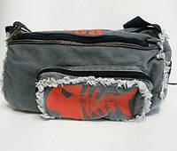 Синяя спортивная сумка. Рыба, фото 1