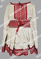 Вышитое детское платье с широким вышитым поясом