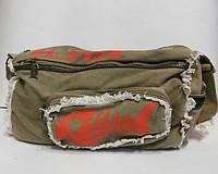 Бежевая спортивная сумка. Рыба, фото 1