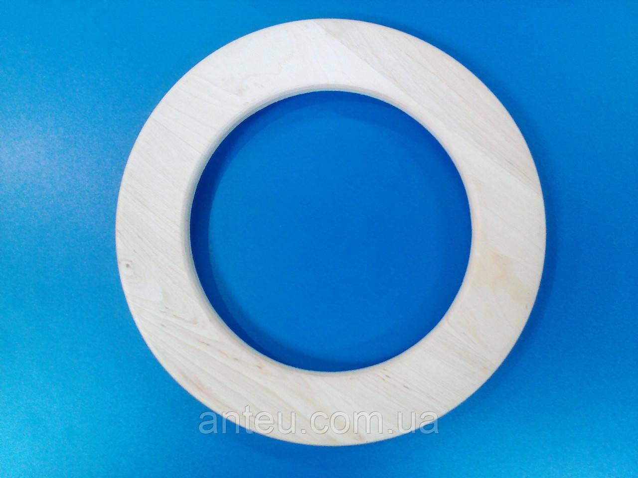 Рамка деревянная (бук) круглая для декупажа.Диаметр 280 мм.Рамки круглые для картин. фото,вышивок.