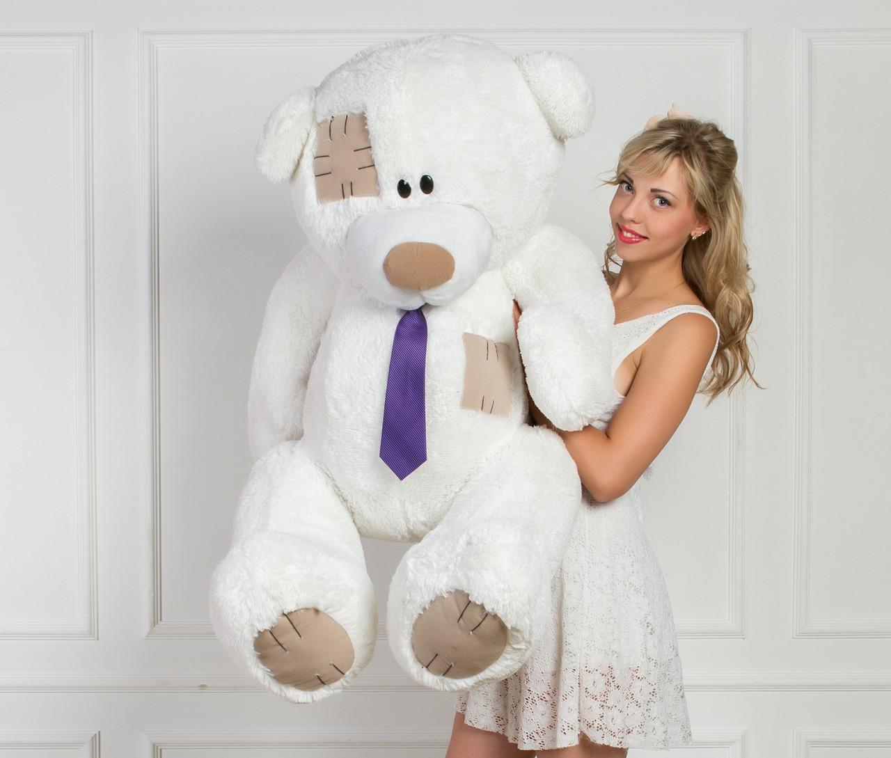 Мишка Тедди плюшевый белый 160 см