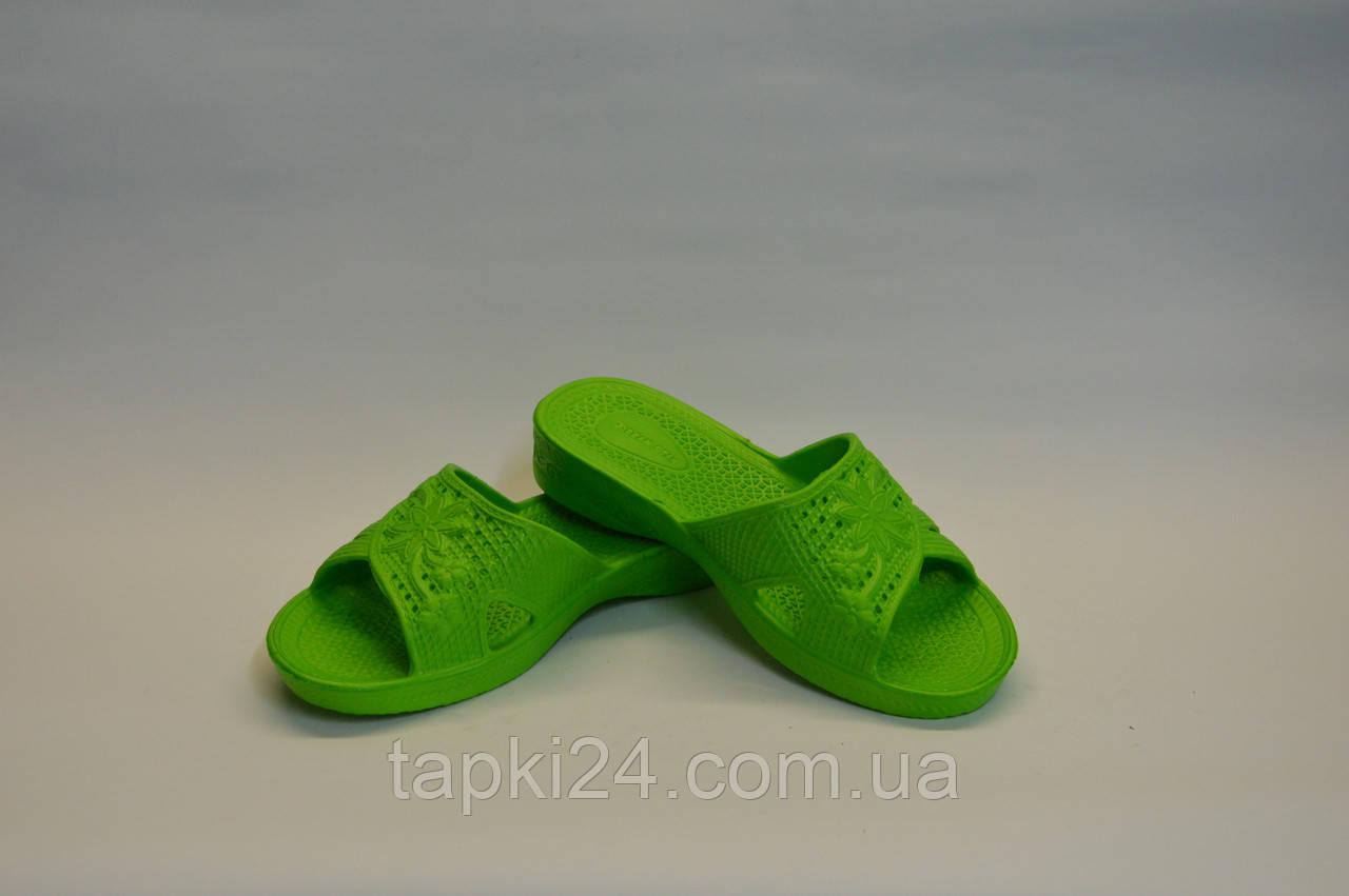 Детские шлепанцы оптом зеленый ППЖ - 02, фото 1