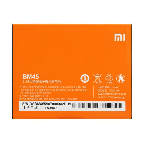 BM45 Xiaomi Redmi Note 2 аккумуляторная батарея оригинал 3020mAh