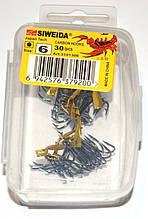 Гачки для риболовлі потрійні Siweida №6, 30шт