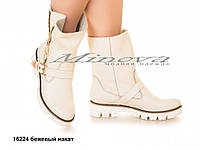 Ботинки №16224-бежевый накат