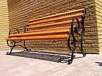 Скамейка кованая с перилами 1,5 м