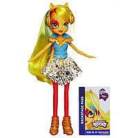 My Little Pony Девочки эквестрии Эпплджек Радужный рок Equestria Girls Applejack Doll Neon Rainbow Rocks
