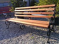 Скамейка кованая с перилами 2,5 м