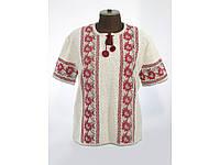 Яркая вышиванка для женщин с коротким рукавом
