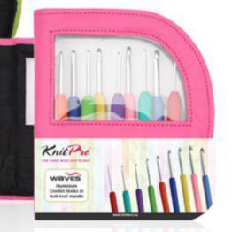 Набор крючков врозовом чехле KnitPro