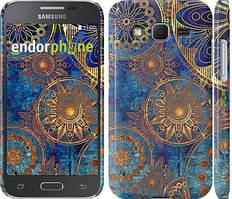 """Чехол на Samsung Galaxy J5 J500H Золотой узор """"678c-100"""""""