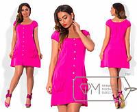 Летнее легкое платье из штапеля большого размера в расцветках i-1515652