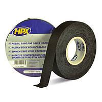 Тканевая изоляционная лента для защиты кабеля HPX 105°С, 19 мм х 25 м, черный