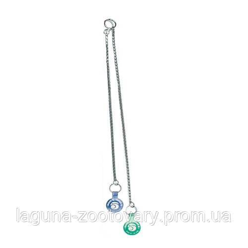 Ring5 Тяжелая хром (Heavy Chrome) плетенная цепочка для собак, 35см