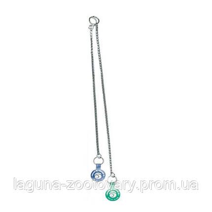 Ring5 Тяжелая хром (Heavy Chrome) плетенная цепочка для собак, 35см, фото 2