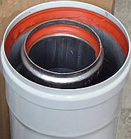 Удлинитель коаксиального дымохода (труба, длина 500 мм, 60/100 мм) для навесных котлов-колонок, код сайта 4283