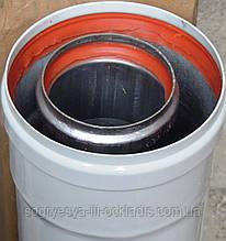 Труба димоходу довжина 500 мм діаметр 60/100 мм в зборі (фір.уп, Китай) котлів-колонок, навісних, к. з.4283