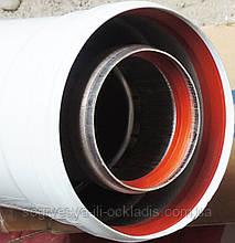 Труба дымохода 60/100/1000 мм с резинками (ф.у, Китай) котлов-колонок навесных, арт. СЕ04, к.з. 0972/3