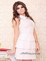 """Платье №3004-""""Бекхем""""-белый"""